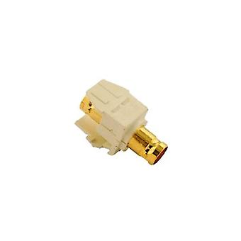 Leviton 40832-BA Quickport adaptador BNC, Gold-Plated, almendra