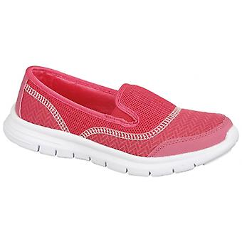 Ladies Lightweight Pumps Slip On Comfy Flat Sport Gym Walking Trainers Shoes