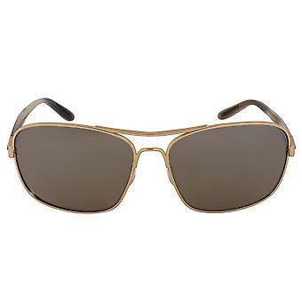 Oakley Sanctuary Square Sunglasses 0OO4116 411605 58   Gold Frame   Polarized Brown Lenses