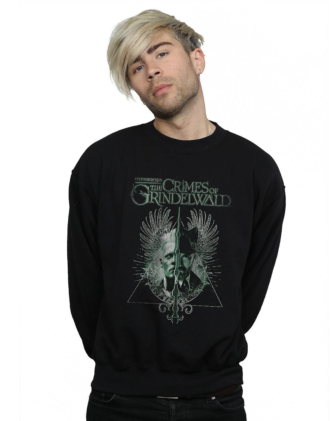 Fantastic Beasts Men's The Crimes Of Grindelwald Wand Split Sweatshirt