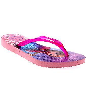 Barn flickor Havianas Frozen Elsa Anna Beach Disney sommar Flip Flop Sandal