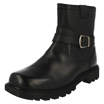 Ladies CAT Biker Style Ankle Boots Everyday Biker