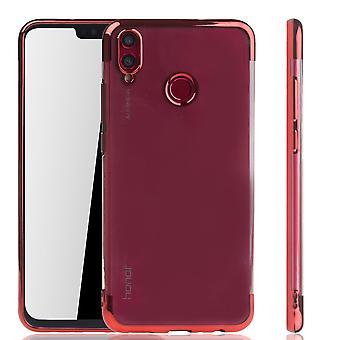 Mobile Shell dla Huawei honor 8 X czerwony - jasne - TPU silikonowe dekiel pokrywa osłona krawędzi przezroczysty / błyszczący czerwony