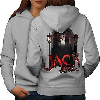 Jack Serial Killer Women GreyHoodie Back | Wellcoda