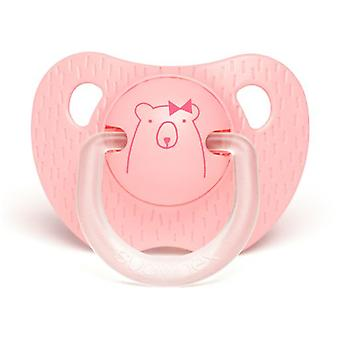 Suavinex Pacifier Evolution Anatomical Bear Pink 0 to 6 Months