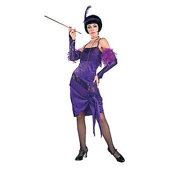 Upea Flapper pukeutunut violetti pukeutua - Lifesize pahvi automaattikatkaisin / seisoja