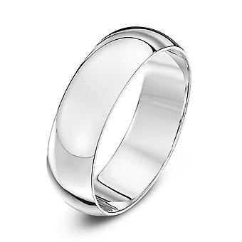 Estrelas de casamento anéis Palladium 500 pesada D aliança 6mm