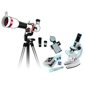 Smart Microscope and HD Sport Astronomical Telescope Tripod With Smartphone Adapter set