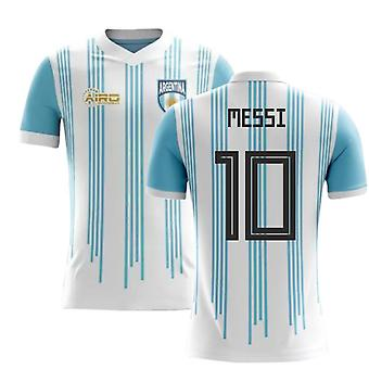 2020-2021 Argentina Home Concept Football Shirt (Messi 10) - Barn