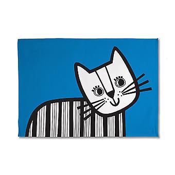 Jane Foster gatinho toalha de chá, azul