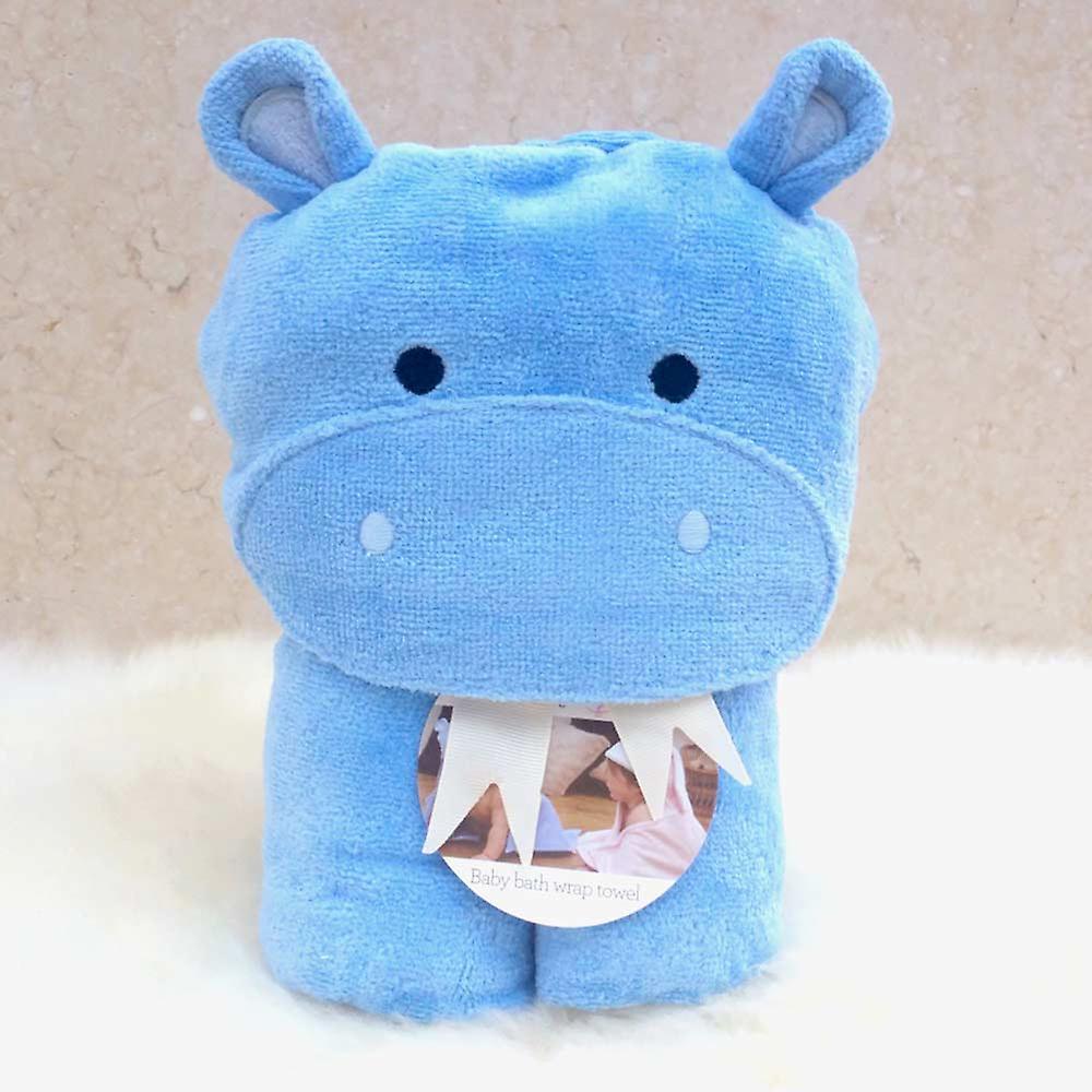 Happy Hippo baby towel