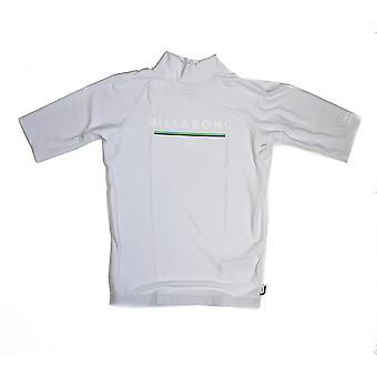 بيلابونغ الوحدة قصيرة الأكمام سترة راش باللون الأبيض
