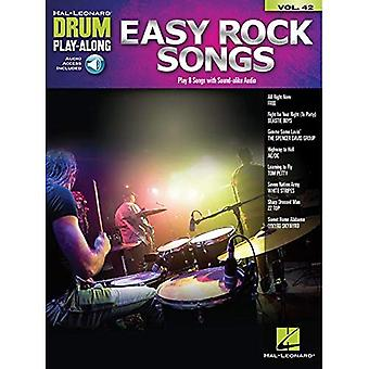 Drum Play-Along Band 42: Einfache Rocksongs (Buch/Online-Audio)