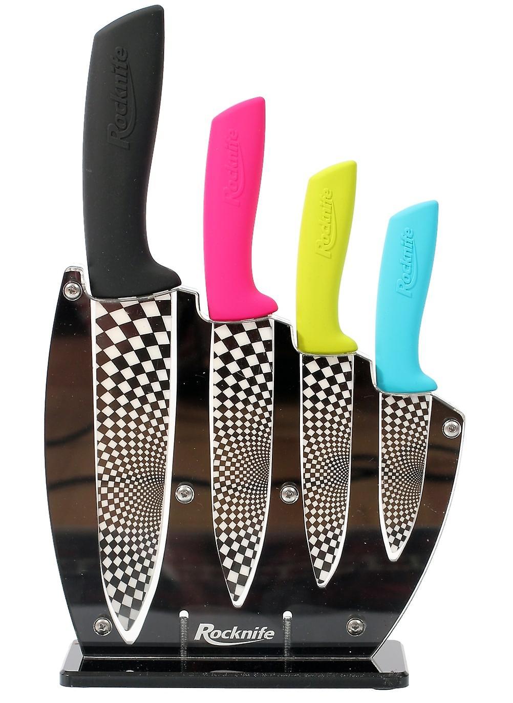 Flerfärgade keramiskt Knivset
