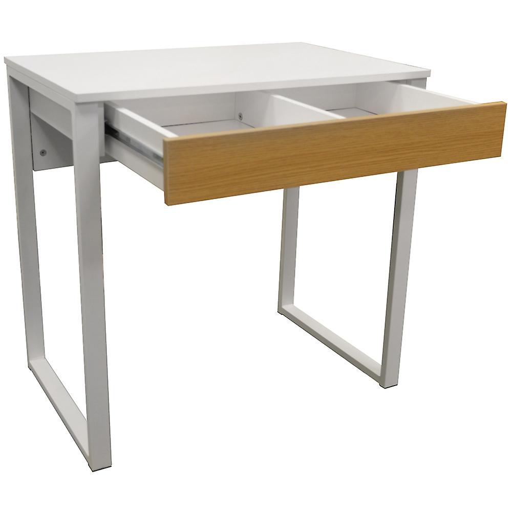 Loop - Compact des postes de travail / ordinateur de bureau / Dressing Table - blanc / chêne