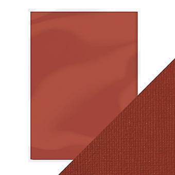 Handwerk perfekt von Tonic Studios A4 Weben strukturierte Karte 10pk Maroon rot