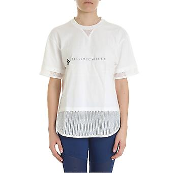 Adidas by Stella Mccartney Dt9227 Damen's weißes Nylon T-shirt