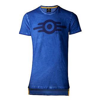 Difuzed Fallout 76 Oil Vault Mens T-Shirt Large Blue (TS853241FAL-L)