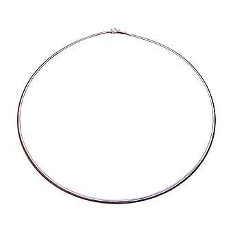 White gold Hook Omega necklace