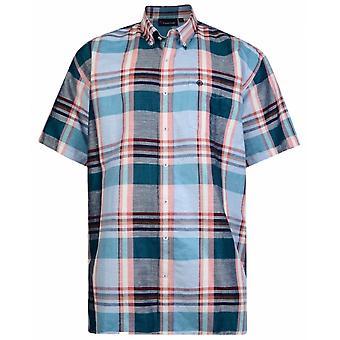 ESPIONAGE Espionage Linen Mix Short Sleeve Shirt