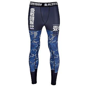 Tatami Fightwear olejki Camo Spats niebieski