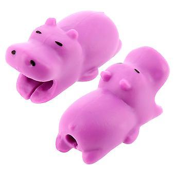 Cablu protector drăguț Hippo anti-Breakage silicon gel rezistent universal