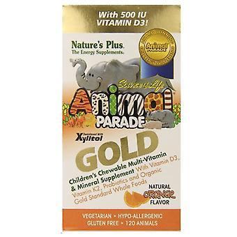 Nature's Plus eläin paraati kulta Puru, Multi oranssi maku 120 (29936)