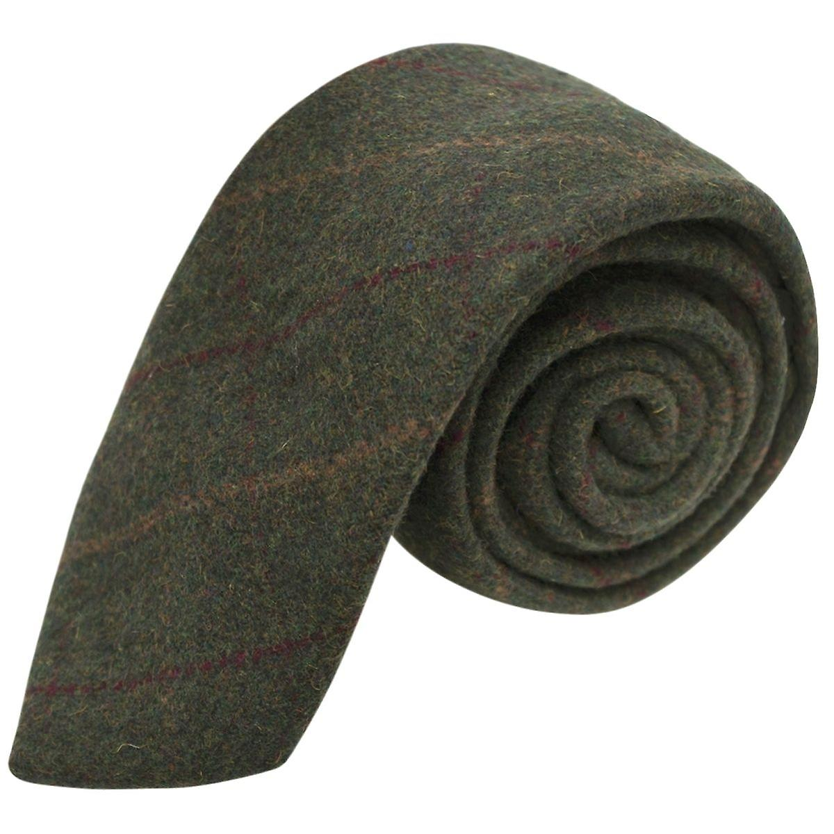 Heritage Check Moss Green Tie