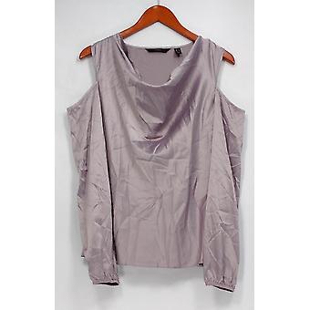 G.I.L.I. lo tiene me encanta Top Blusa de hombro frío púrpura A292958