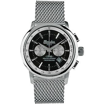 Mondia italy 1946 Chrono Japanese Quartz Analog Man Watch with MI744-1BM Stainless Steel Bracelet