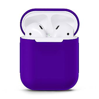 Apple Airpods/Airpods 2-Purple için Silikons Shell Kılıfı