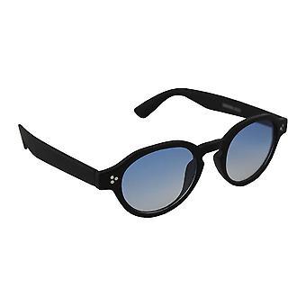 サングラス UV 400 オーバル ブラックブルー half2533_1