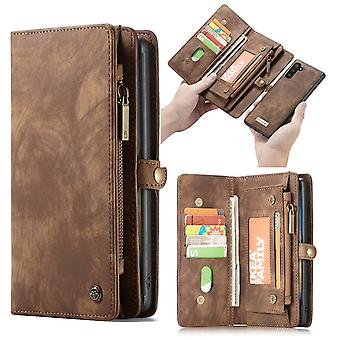 CASEME Samsung Galaxy Note 10 Retro leather wallet Case-brown