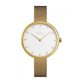 OBAKU - Wristwatch - UNISEX - V233LXGIMG - NOTAT-GOLD