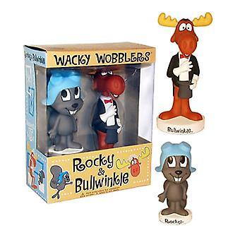 Rocky en Bullwinkle Wacky Wobbler 2 PK