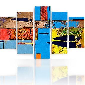 Immagine a cinque parti su tela, Pentaptych, Tipo A, Perverso