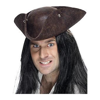 Mens Pirat Dreispitz Hut Kostüm Zubehör
