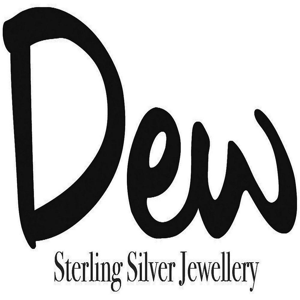 Dew Sterling Silver Cubic Zirconia Double Link 18 Necklace 9720CZ021