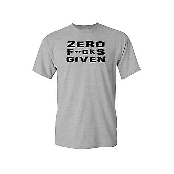 Unisex Zero F's Given Short Sleeve Shirt