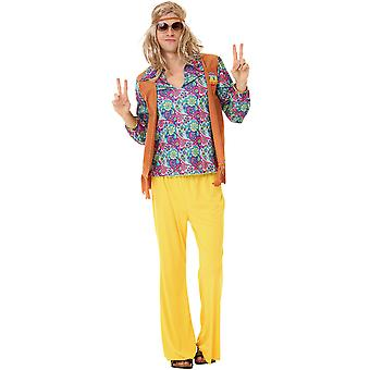 Groovy Hippie Adult Costume, XXL