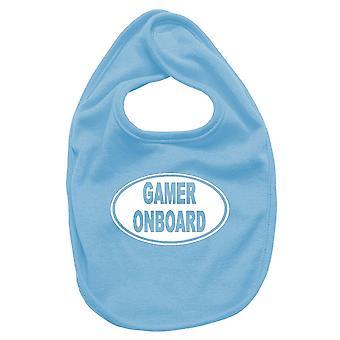 Newborn turquoise bib fun1542 gamer onboard oval