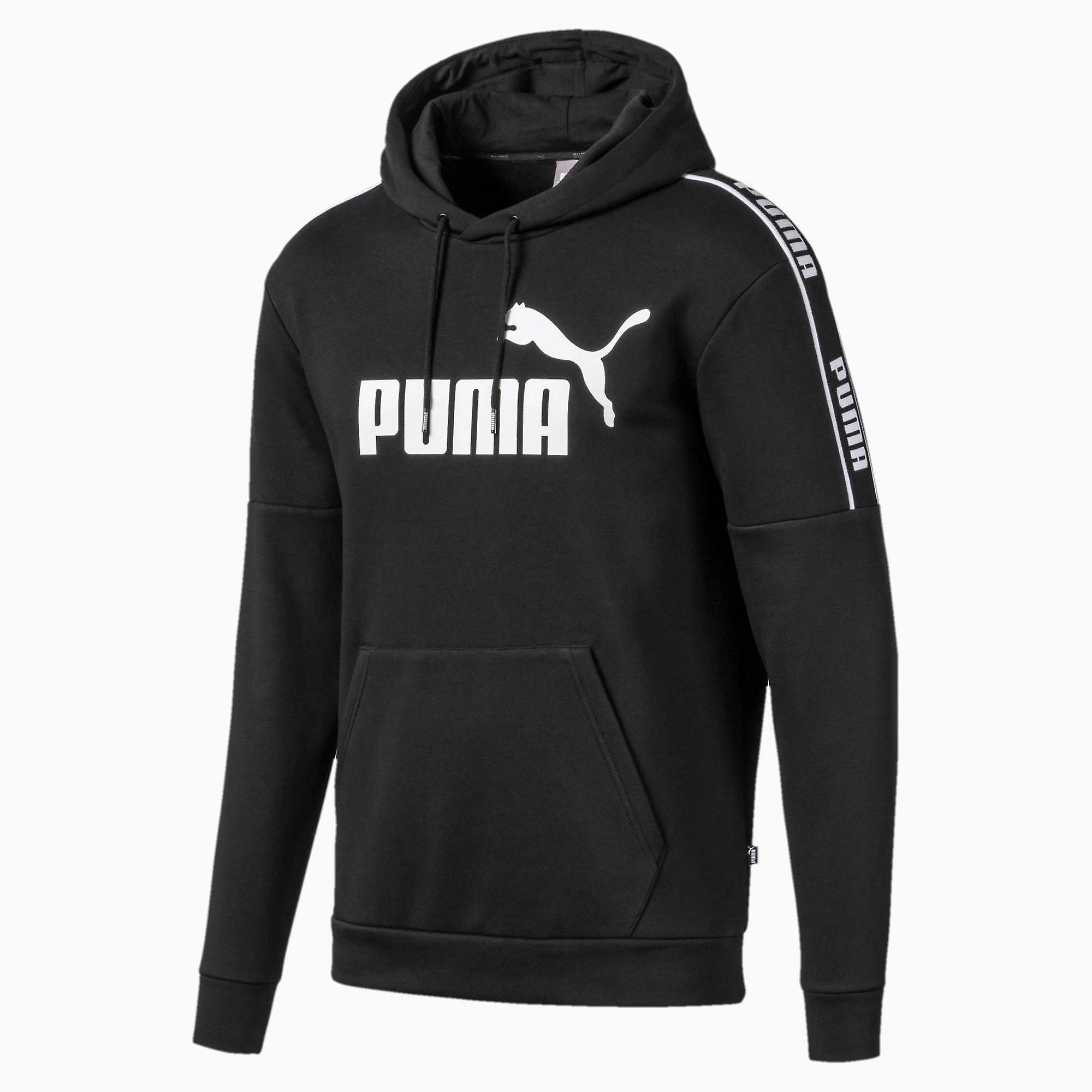 Puma Amplified Fleece Over Head Mens Hoodie Hoody Jacket Black