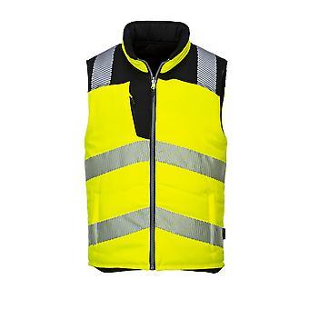sUw-Hi-Vis sikkerheds arbejdstøj reversibel Bodyvarmer vest