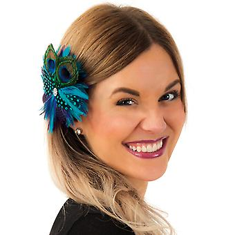 Spring jewelry hair clip Peacock