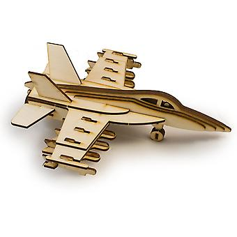 Crafts - f18 hornet - raw wood model kit