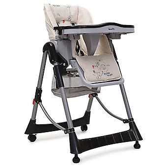 Galleta de silla alta, mesa, altura plegable ajustable, cojín de asiento extraíble
