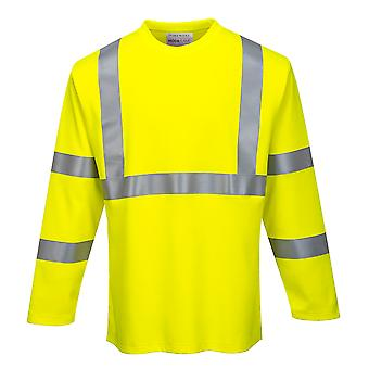 Portwest - Hi-Vis Workwear Long Sleeved Fire Resist T-Shirt