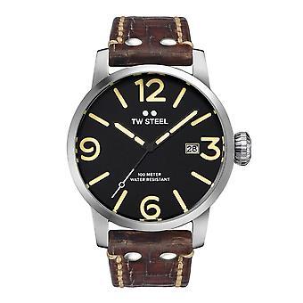 TW Steel MS2 Maverick Brown Leather Quartz Wristwatch