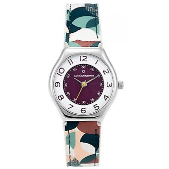 Children's Watch Lulu Castagnette 38896 - Round case m tal White dial Multicolour patterned leather bracelet