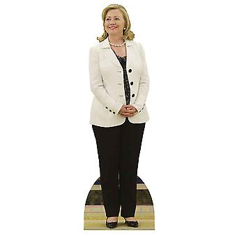Hillary Clinton branco casaco Lifesize papelão recorte / cartaz / stand-up